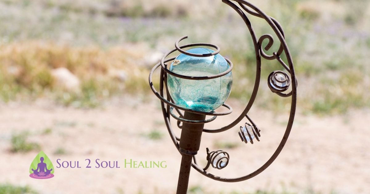 glass globe and cast iron art soul 2 soul healing